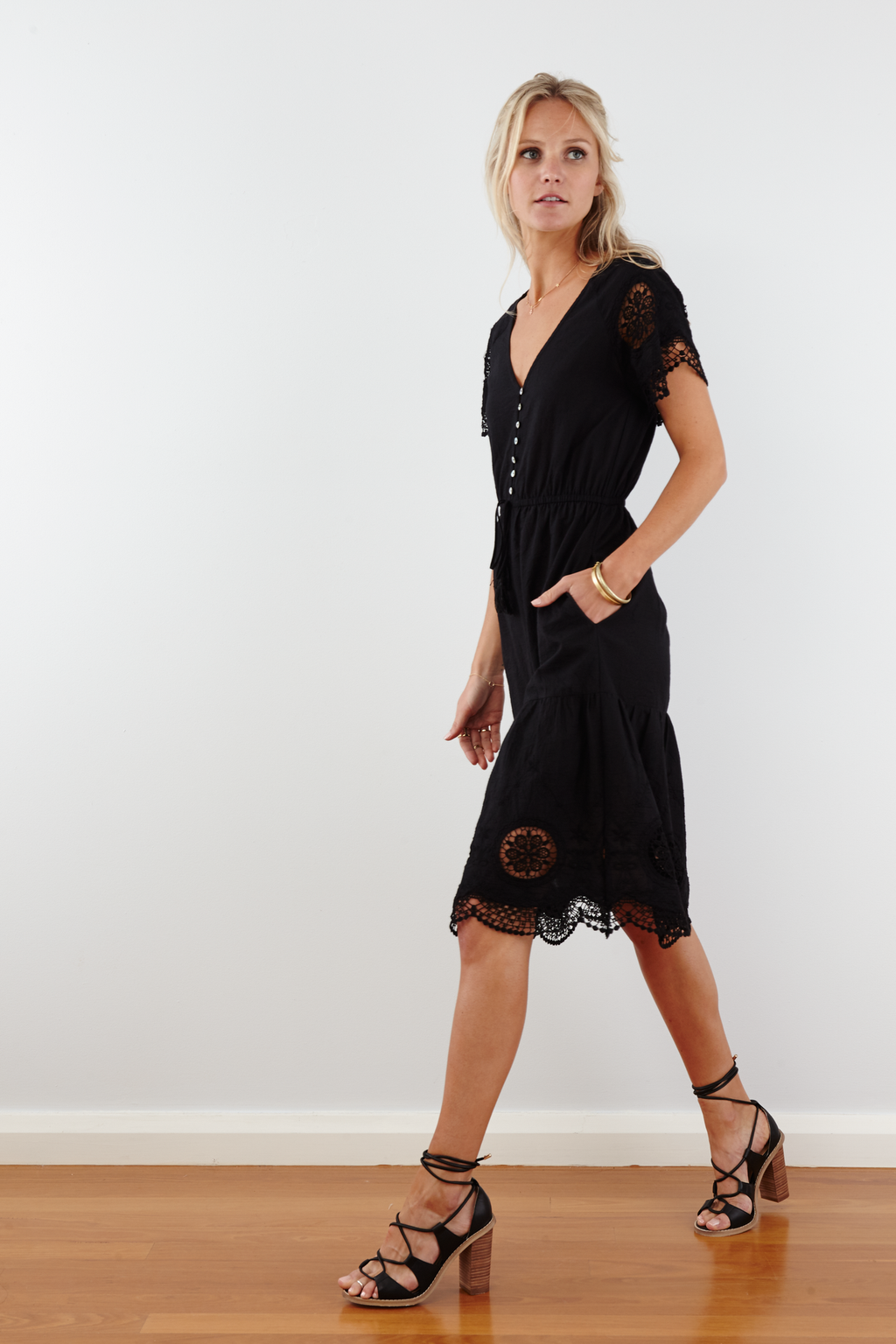 DREE Cotton Embroidered Dress