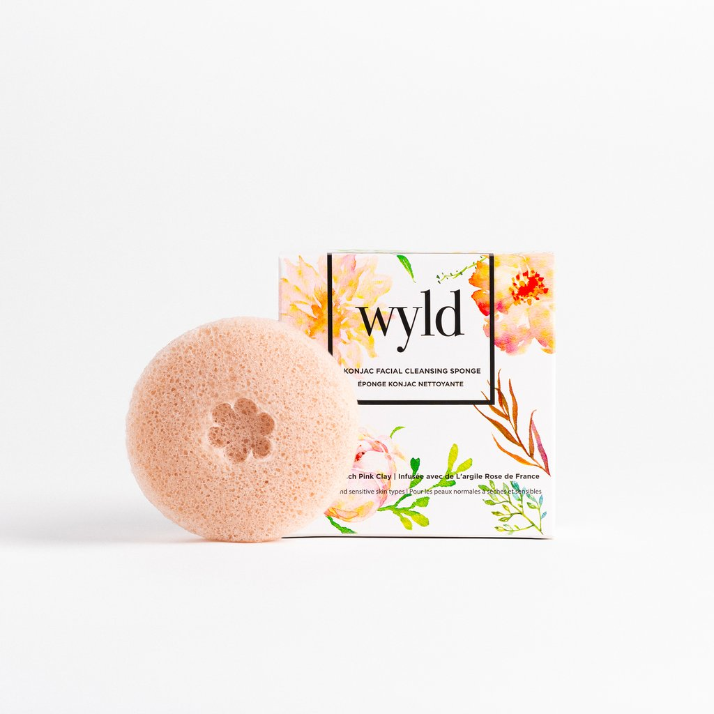 French Pink Clay Konjac Sponge (Dry, Sensitive Skin)
