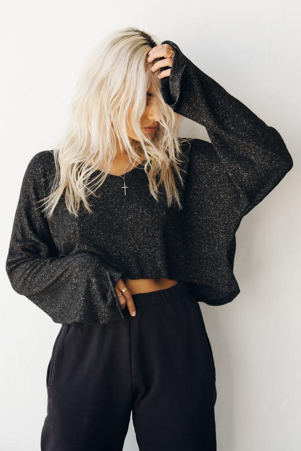 Paris Crop Long Sleeve
