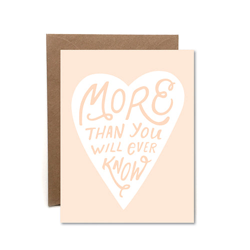 More Than You Know Card