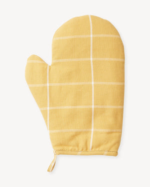 Gold Grid Oven Mitt