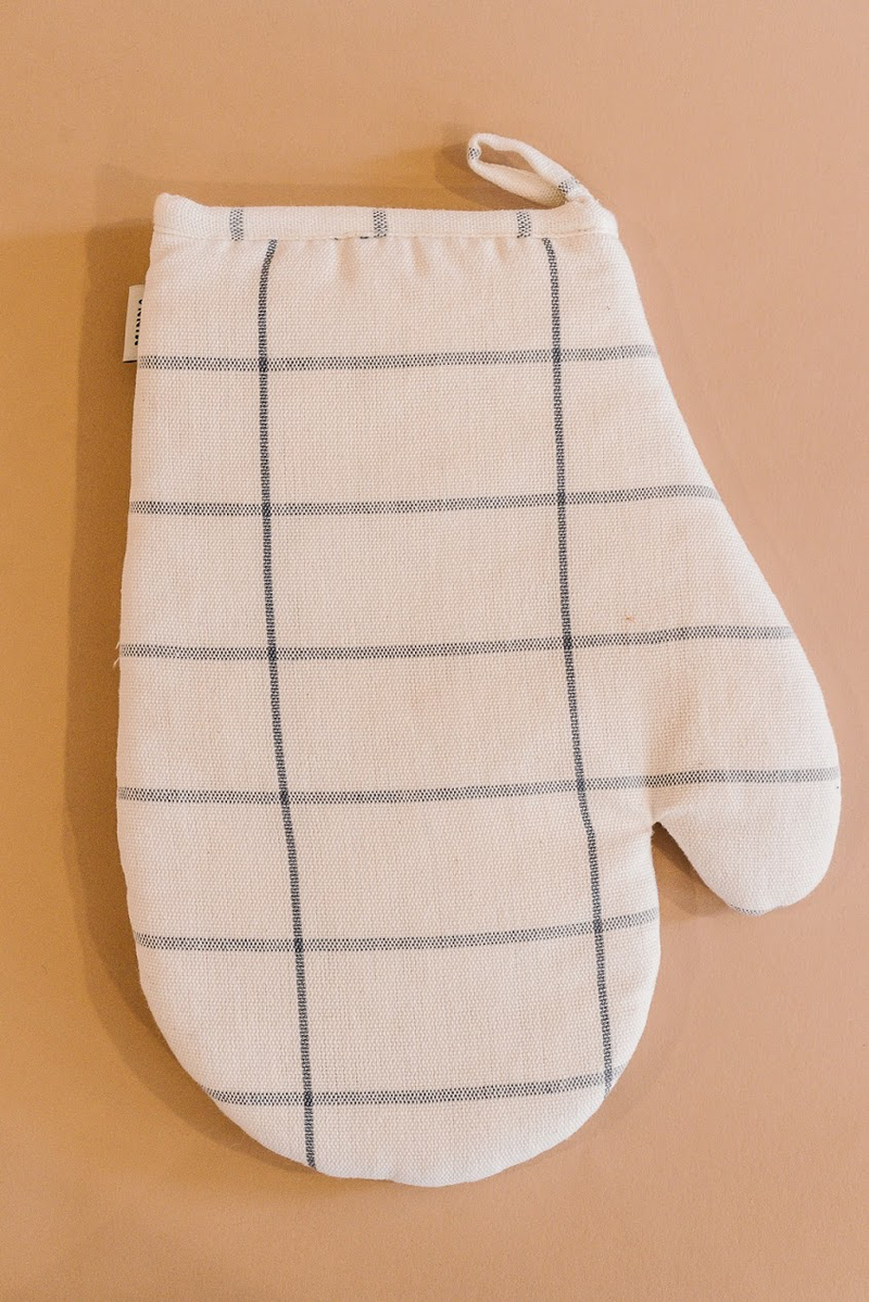 Grid Oven Mitt Cream