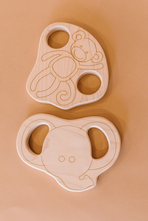 Elephant Wood Toy Teether