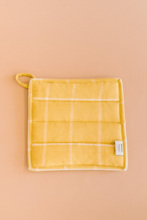 Gold Grid Potholder