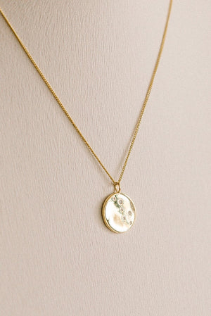Disc CZ Necklace