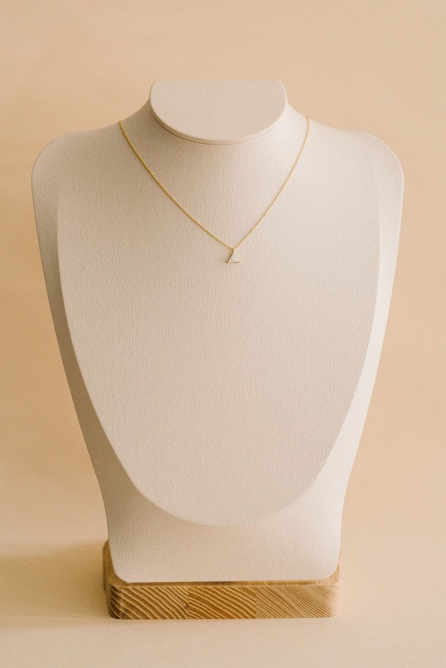 Triangle Solitaire Necklace