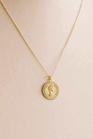 The Queen Coin Pendant Necklace
