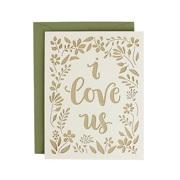 I Love Us Laser Cut Card