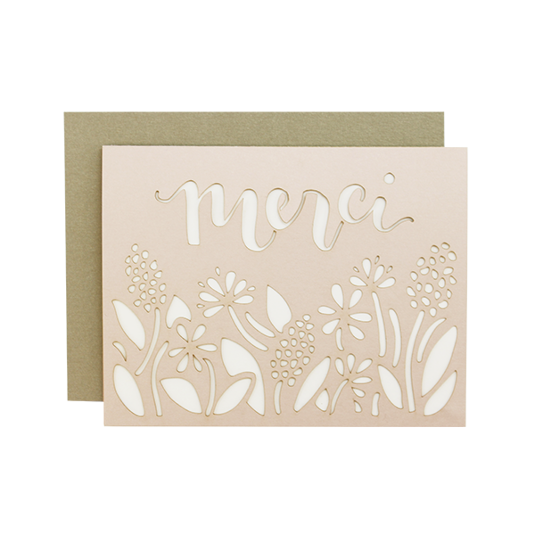 Merci Laser Cut Card