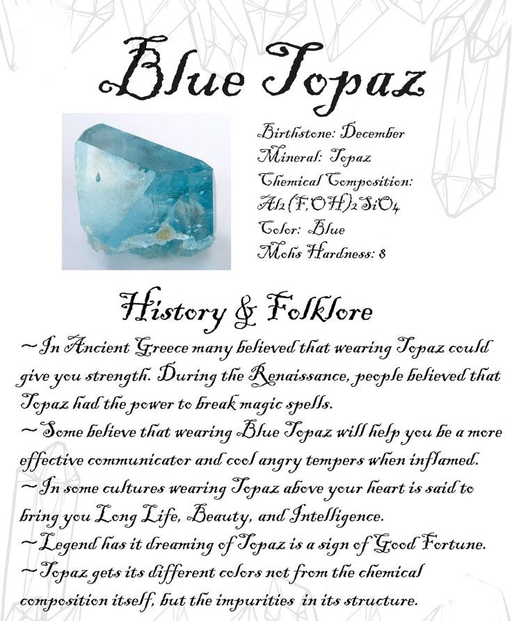 December Birthstone of the Month- Blue Topaz – Carters Jewellers