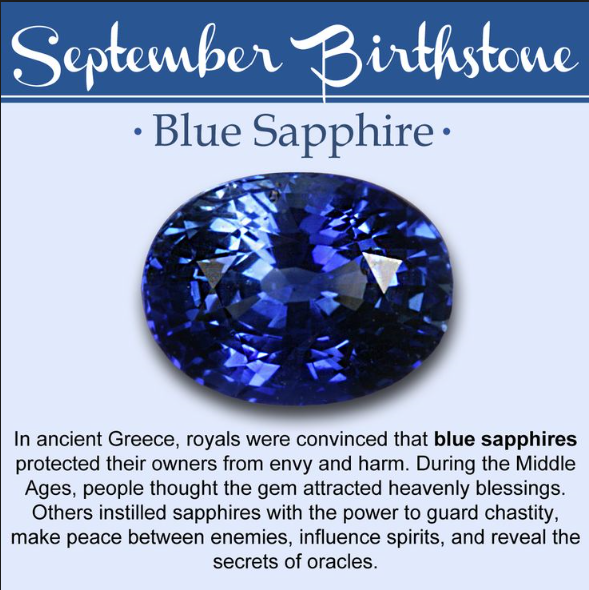 September Birthstone of the Month- Blue Sapphire