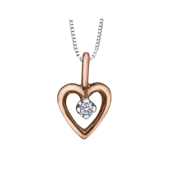 8ab7cf480 10k Rose & White Gold Diamond Heart Necklace – Carters Jewellers ...