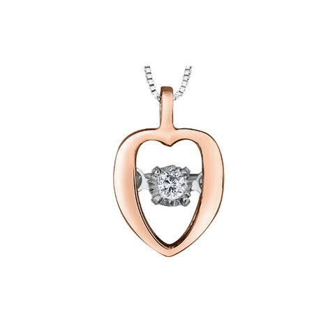 10k White & Rose Gold Pink Topaz & Diamond Necklace