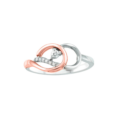 10k White & Rose Gold Canadian Diamond Ring