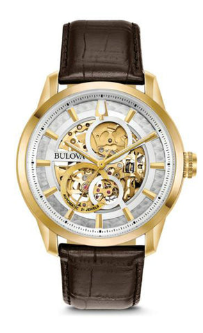 Bulova Mens Automatic Skeleton Watch