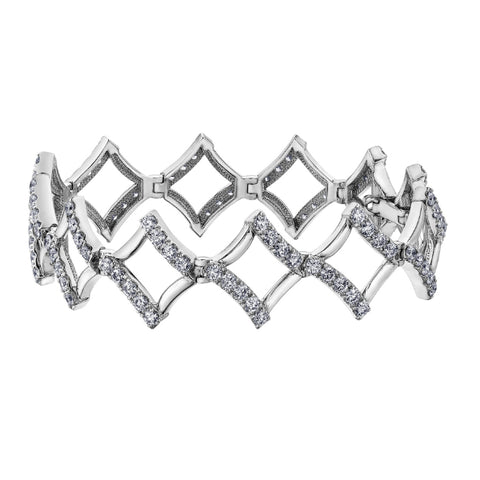 10k White Gold 5.00ctw Diamond Tennis Bracelet