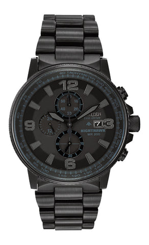 Mens Citizen EcoDrive Nighthawk Watch