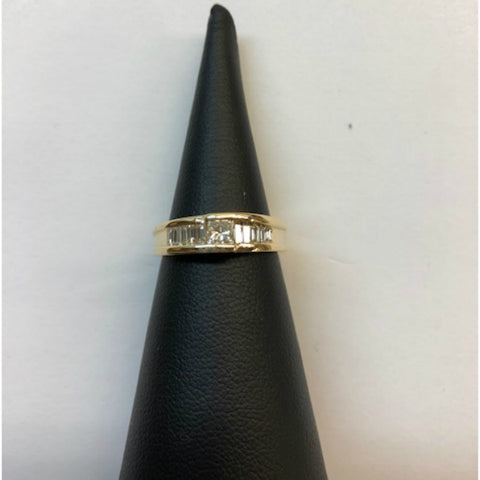 10k Yellow Gold Princess Cut Diamond Engagement Ring