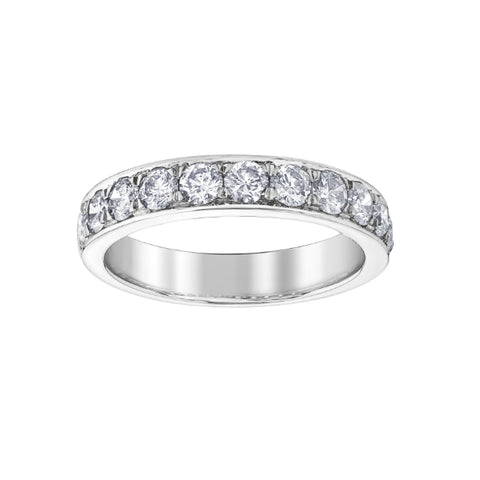 10k White Gold 1.00ctw Diamond Anniversary Band