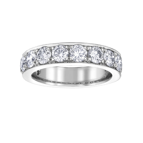 10k White Gold 2.00ctw Diamond Anniversary Band