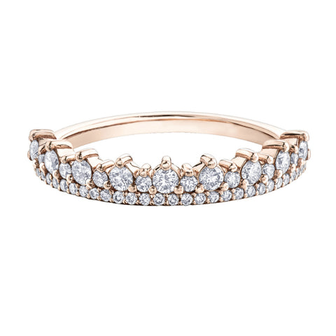 10k Rose Gold 0.50ctw Diamond Ring