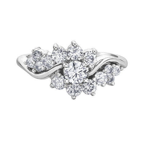10k White Gold 1.00ctw Fancy Diamond Ring