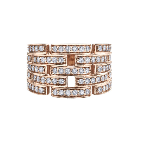 10k Rose Gold 1.00ctw Diamond Ring