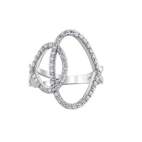 10k White Gold 0.50ctw Diamond Ring