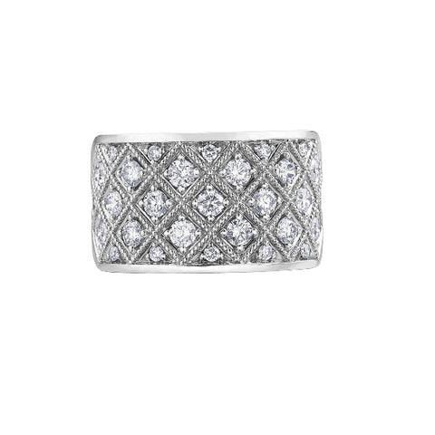 10k White Gold 1.00ctw Diamond Ring