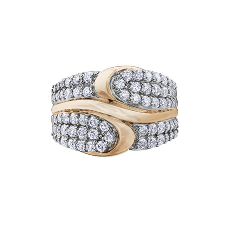 10k White & Rose Gold 1.00ctw Diamond Ring