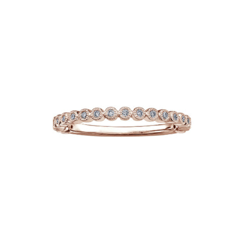 10k Rose Gold & Diamond Stackable Ring