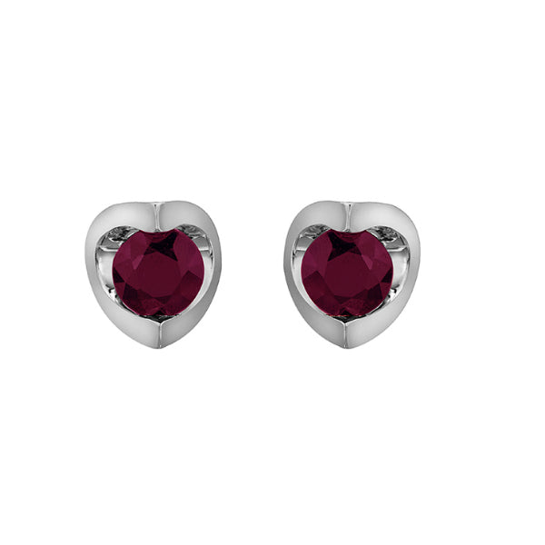 07be8578a 10k White Gold Ruby Earrings – Carters Jewellers Northern BC