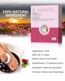KONGDY Retail Box 10 pieces Rose Detox Foot Patches