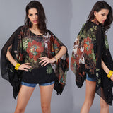 Floral Printed Vintage Blouse - The Endo Shop