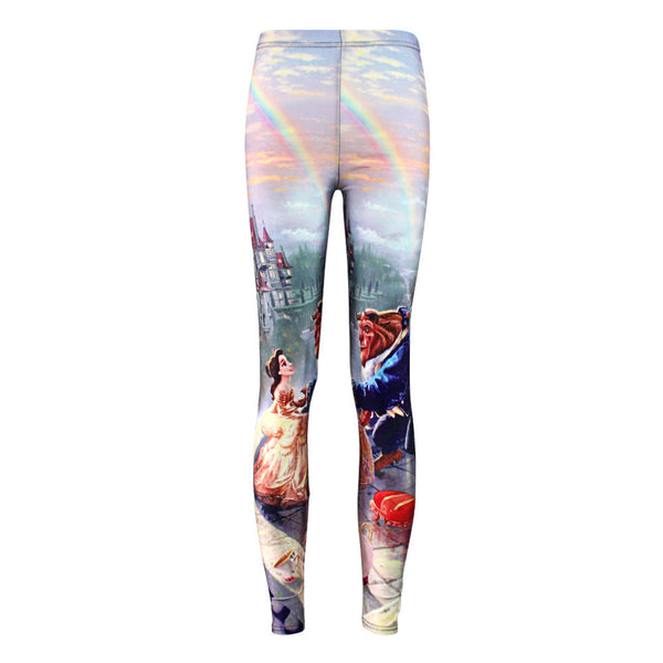 Digital Print Popular Beauty and the Beast Leggings