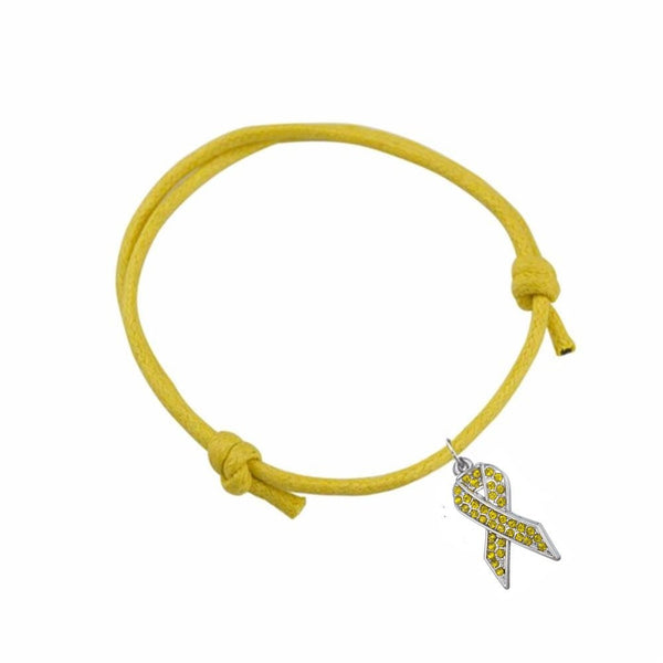 Endometriosis Awareness Adjustable Wax Cord Bracelet