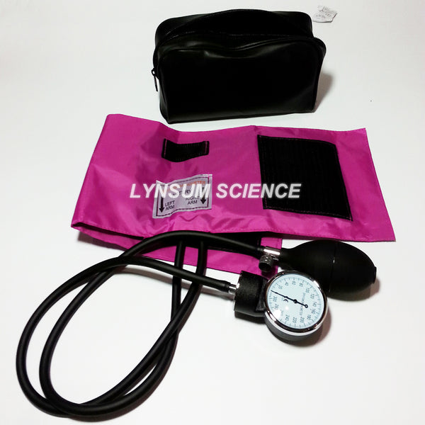 New!  BP Cuff Arm Aneroid Sphygmomanometer PINK