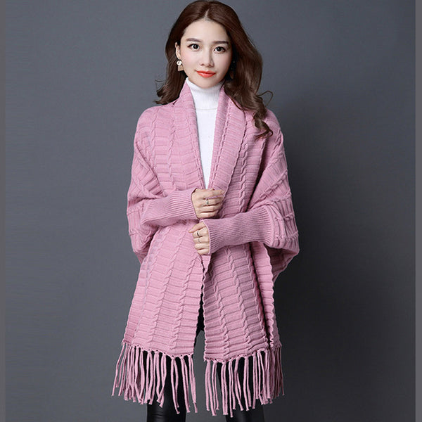 2017 Autumn Female Batwing Sleeve Long Sweater