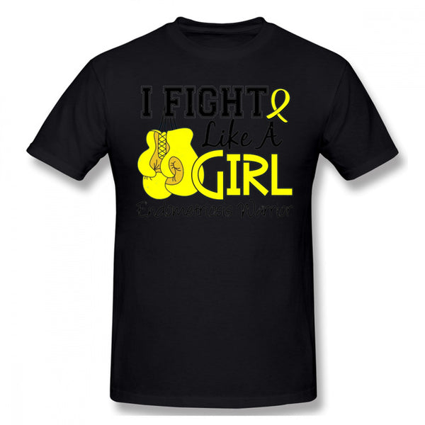 Fight Like A Girl T Shirt Endometriosis Awareness