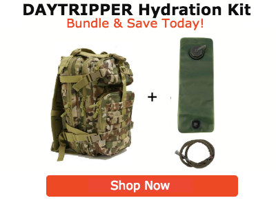 daytripper tactical backpack hydration bladder bundle