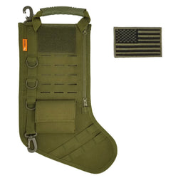TERRATAC Laser Cut Tactical Christmas Stocking New 2017 Model (+FREE Flag Patch)