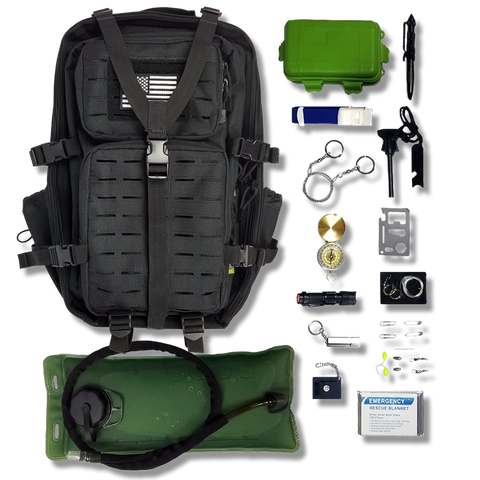 Gearrific Survival Bag Starter Kits Pre-Filled with Tools & Gear