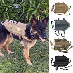 K9 Outdoor Molle Harness Tactical Dog Vest