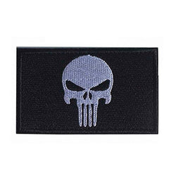 Patches - Cool Punisher Patch Embroidered Skull Military Patch