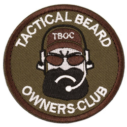 Patches - Tactical Beard Owners Club Military Morale Patch