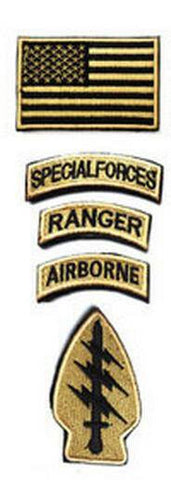 SPECIAL FORCES RANGER AIRBORNE Military Patch Kit (5PCS/set)