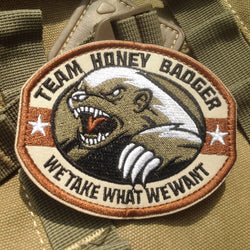 TEAM HONEY BADGER Tactical Morale Badge Military Patch