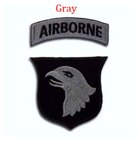 US Army Airborne Division Military Rank Patch Kit (4PCS/set)