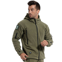 Military Style Tactical Polartec Hooded Fleece Jacket