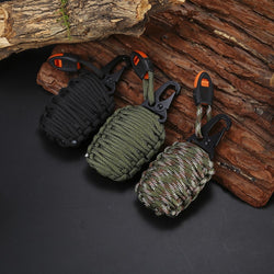 16 in 1 Paracord Grenade Multi Tool Outdoor Survival Kit